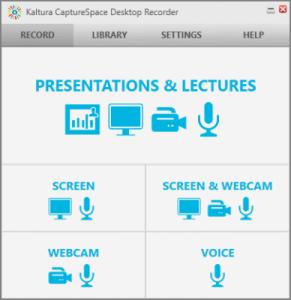 Kaltura CaptureSpace Desktop Recorder